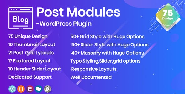 Posts Modules - Responsive WordPress plugin