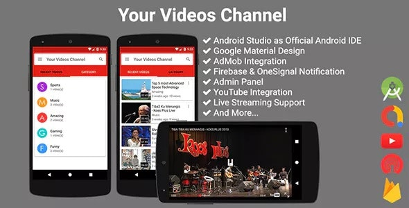 Your Videos Channel by solodroid | CodeCanyon