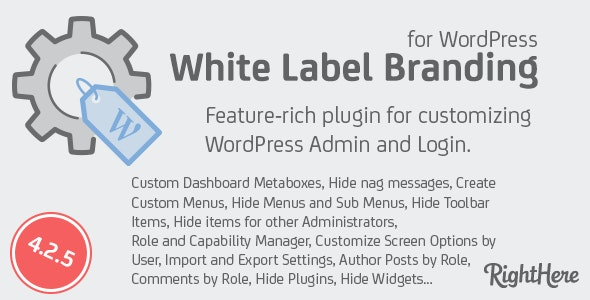 White Label Branding for WordPress by RightHere | CodeCanyon