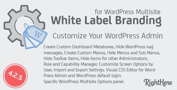 White Label Branding for WordPress Multisite        Nulled