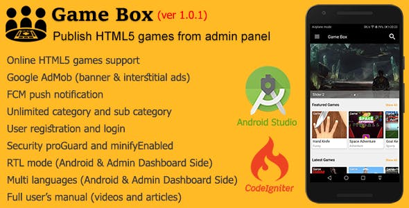 Game Box + Admin Panel