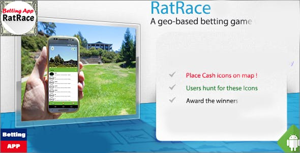 RatRace treasurehunt - A geo-location based treasure hunt game.