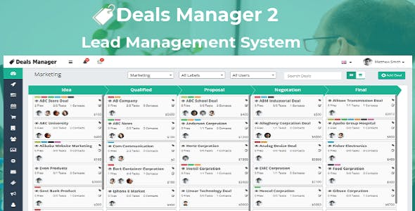 Deals Manager 2 CRM - CodeCanyon Item for Sale