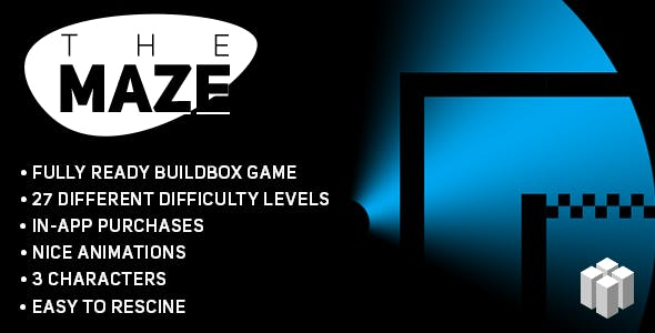 The Maze (BUILDBOX) Fun Puzzle Game Template + easy to reskine