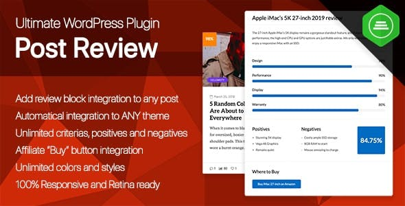 Ultimate Post Review - Responsive WordPress Posts Reviews and Rating plugin - CodeCanyon Item for Sale