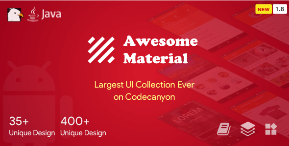 Awesome Material (Google Android Material Design UI Components and Template Collection) 1.8