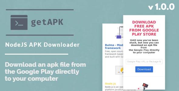 GetAPK - NodeJS APK Downloader