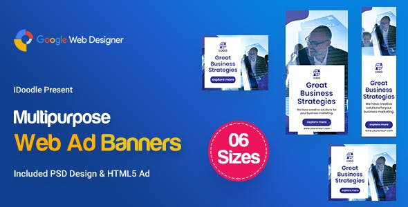 C25 - Multipurpose, Business Banners GWD & PSD