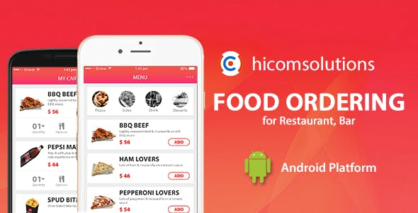 Food ordering Android App Template