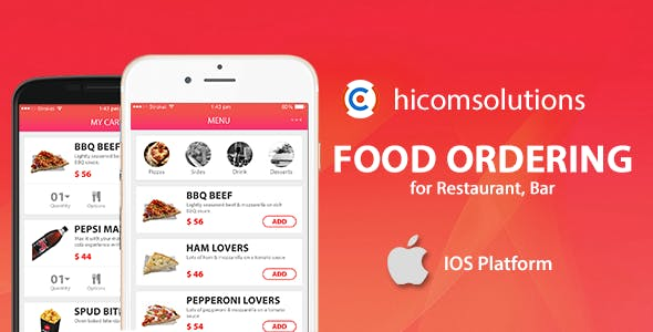 Food ordering iOS App Template