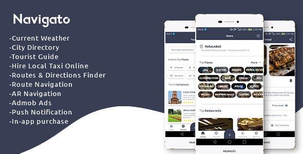 Navigato - City Directory + Tourist Guide + Navigation app - CodeCanyon Item for Sale