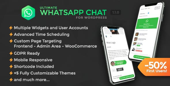 Ultimate WhatsApp Chat Support for WordPress - CodeCanyon Item for Sale