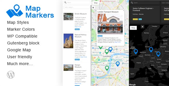Map Markers - Multipurpose WordPress Plugin
