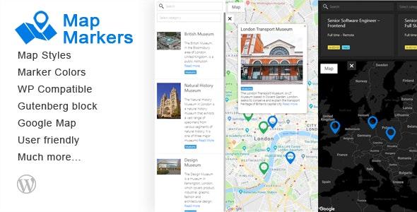 Map Markers - Multipurpose WordPress Plugin - CodeCanyon Item for Sale