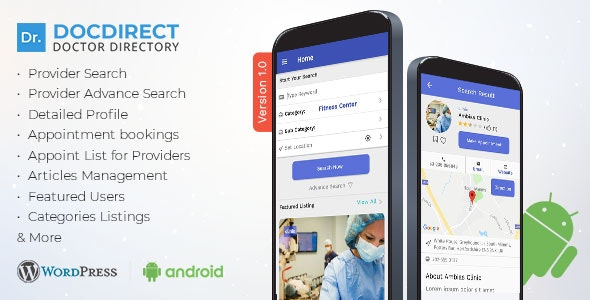 DocDirect App - Doctor Directory Android Native App by AmentoTech