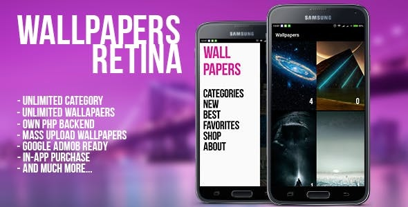 Wallpaper Retina (Android) - CodeCanyon Item for Sale