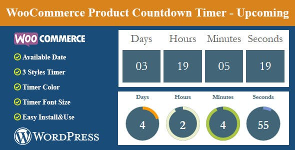 WooCommerce Product Countdown Timer - Upcoming