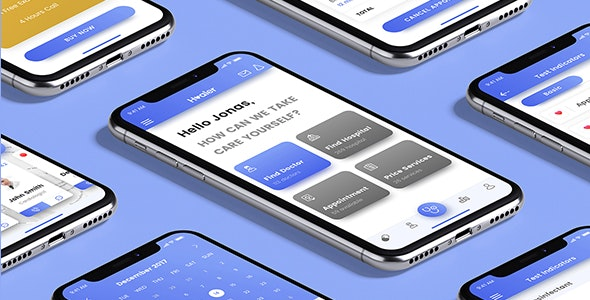 Healer React Native App Template - CodeCanyon Item for Sale