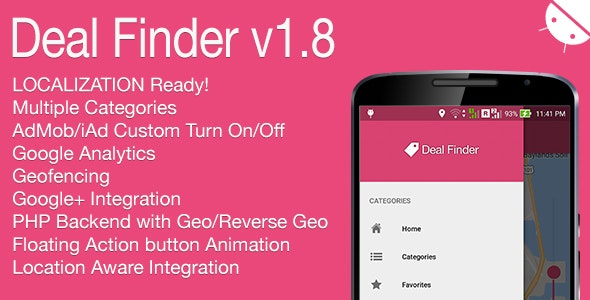 Deal Finder Full Android Application v1.8 - CodeCanyon Item for Sale