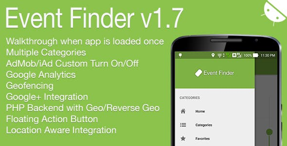 Event Finder Full Android Application v1.7