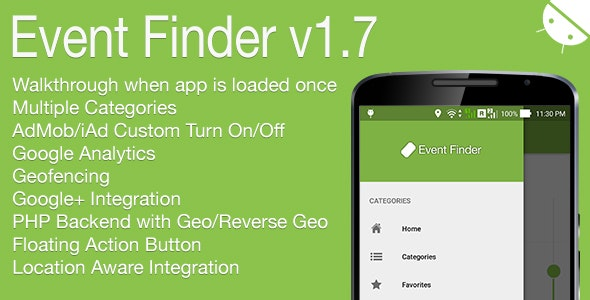 Event Finder Full Android Application v1.7 - CodeCanyon Item for Sale
