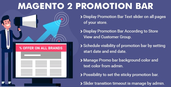 Magento 2 Promotion Bar Extension - CodeCanyon Item for Sale