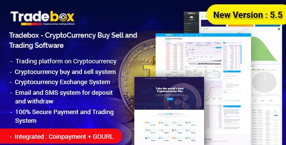 Tradebox - CryptoCurrency Buy Sell and Trading Software - CodeCanyon Item for Sale