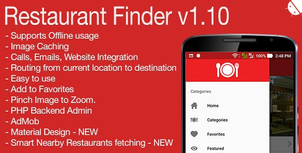Restaurant Finder Full Android Application v1.10