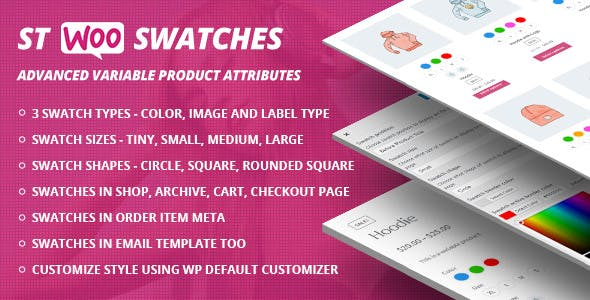 STWooSwatches - Advanced Variable Product Attributes ( Swatches ) for WooCommerce