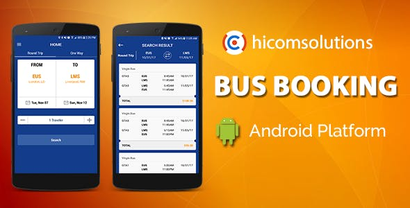Blue Bus Ticket Booking - Android App Template