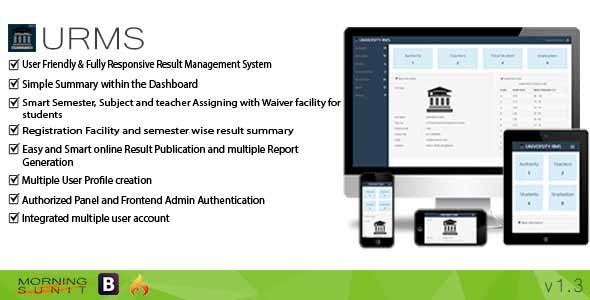 URMS - University Result Management System - CodeCanyon Item for Sale