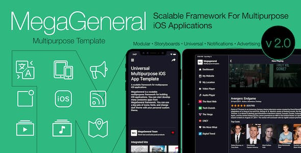 Multipurpose Universal iOS Application Template