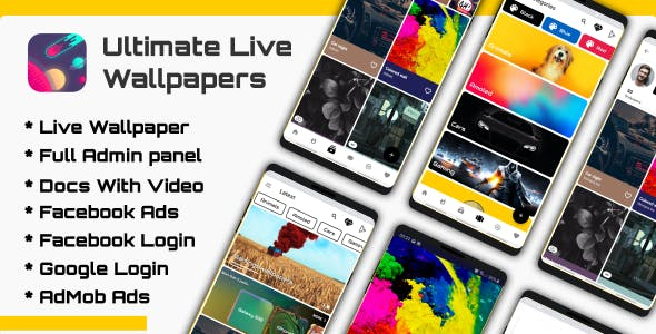 Ultimate Live Wallpapers Application (GIF/Video/Image) - CodeCanyon Item for Sale