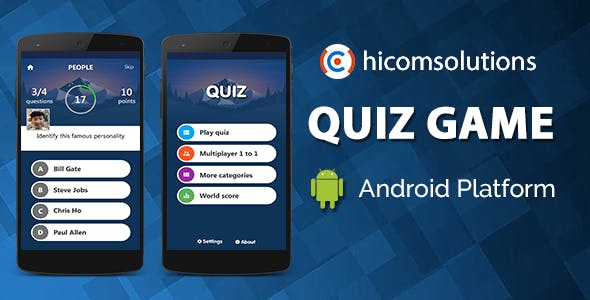 Quiz Game Android App Template