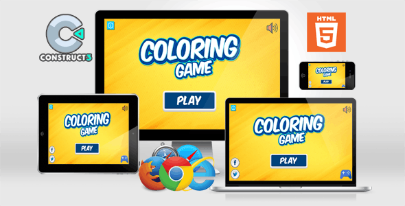 Coloring Game with Zoom  - HTML Educational Game Construct 3