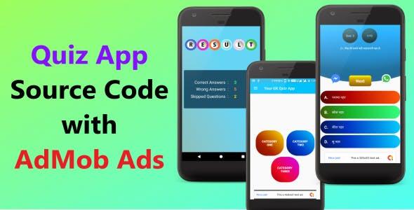 Quiz App (Oflline): Android Studio App Template