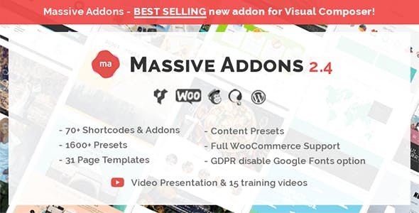 Massive Addons for WPBakery Page Builder        Nulled