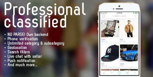 Professional classified with chat iOS
