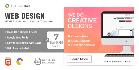 Web Design HTML5 Banners - 7 Sizes - CodeCanyon Item for Sale