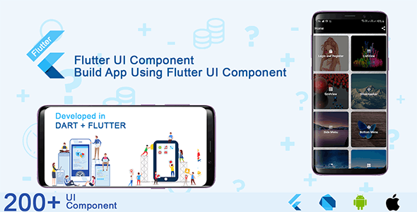 Flutter UI Component and Material Design Kit - CodeCanyon Item for Sale
