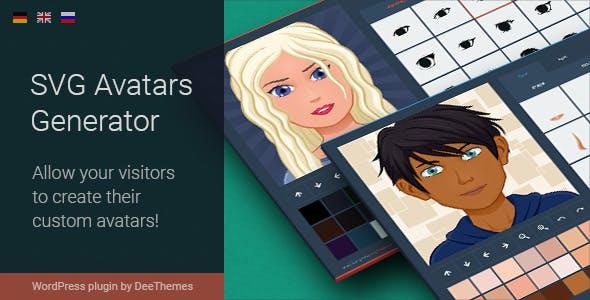 SVG Avatars Generator - WordPress Plugin