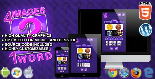 4 Images 1 Word - HTML5 Quiz Game - CodeCanyon Item for Sale