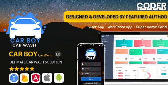 CarBoy - On Demand Car Wash Service Booking App