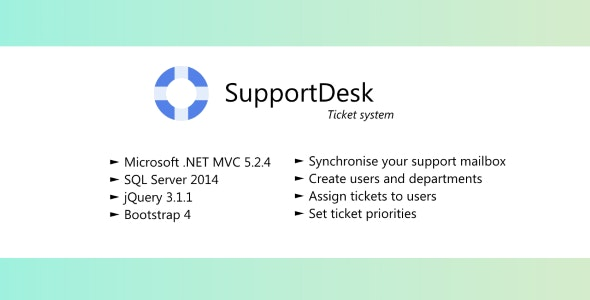 SupportDesk - Ticket system with email integration - CodeCanyon Item for Sale