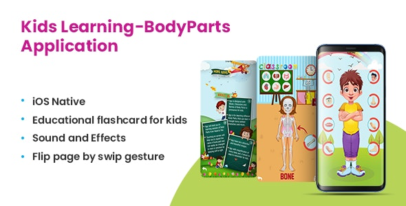 Listen, Learn and Speak - Body Parts Learning APP - CodeCanyon Item for Sale