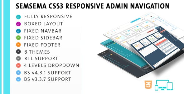 Semsema CSS3 Admin Navigation
