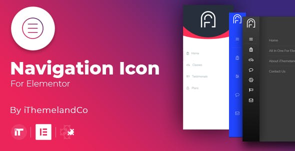 Icon Nav For Elementor - CodeCanyon Item for Sale