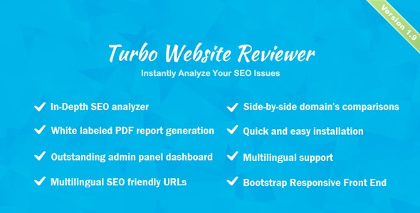 Turbo Website Reviewer - In-depth SEO Analysis Tool by