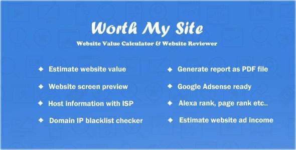 Worth My Site - Website Value Calculator by Rainbowbalaji