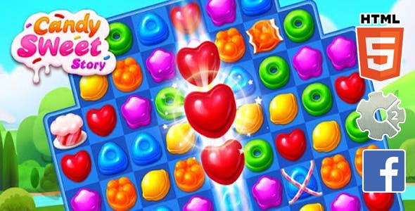 Cundy Fruit HTML5 GAME + FB ADS + READY FOR PULISH